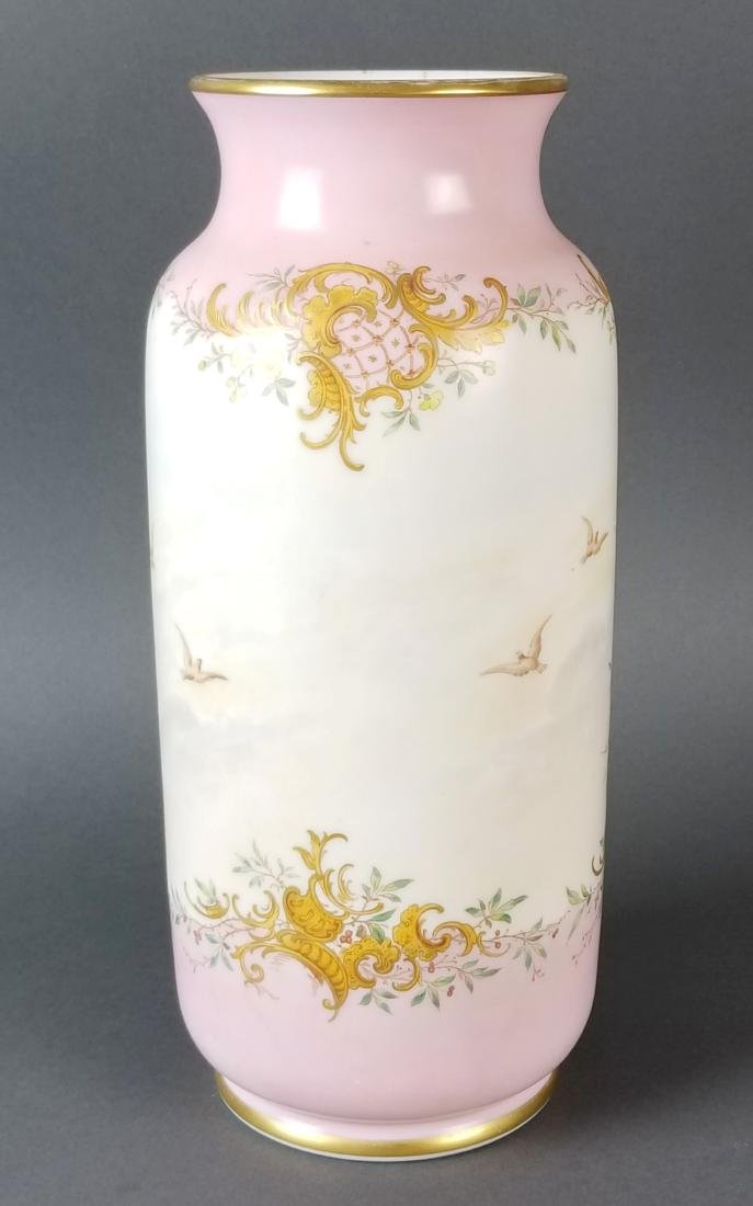 Pair Baccarat Opaline 19th C. Vases - 6