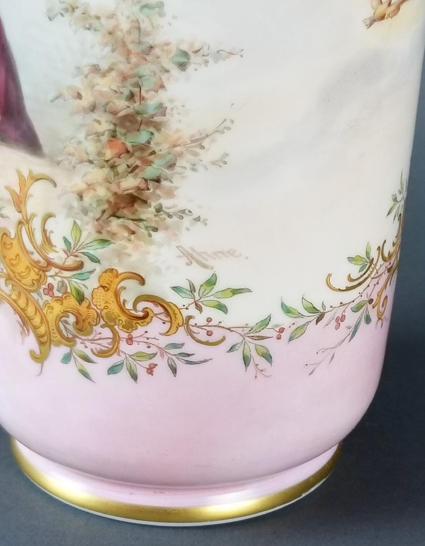Pair Baccarat Opaline 19th C. Vases - 9