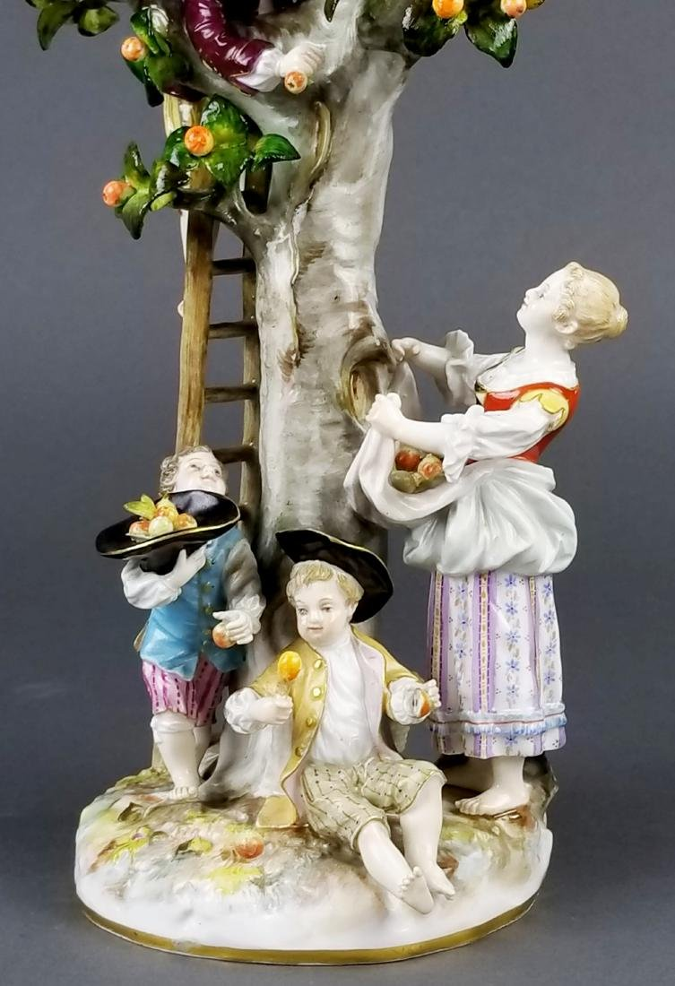 19th C. Meissen Porcelain Figural Group picking Oranges - 2