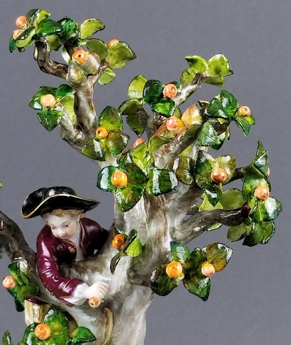 19th C. Meissen Porcelain Figural Group picking Oranges - 4