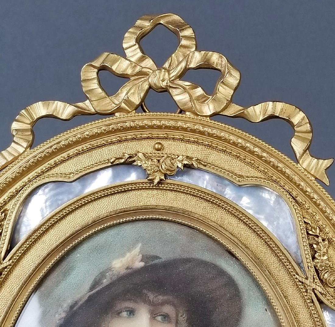 19th C. French Bronze and Enamel Picture Frame - 3