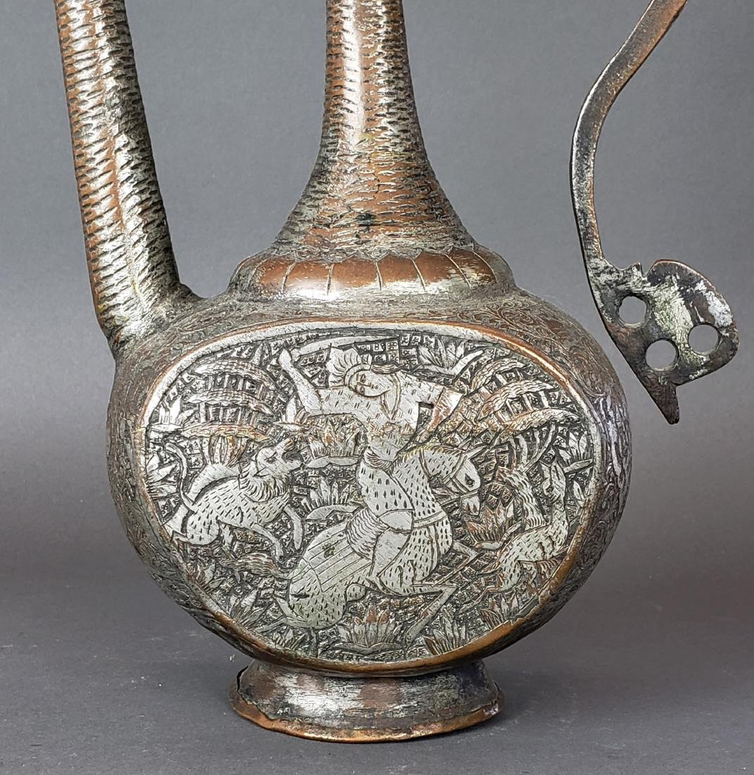 Antique Persian Hand Engraved Teapot - 2
