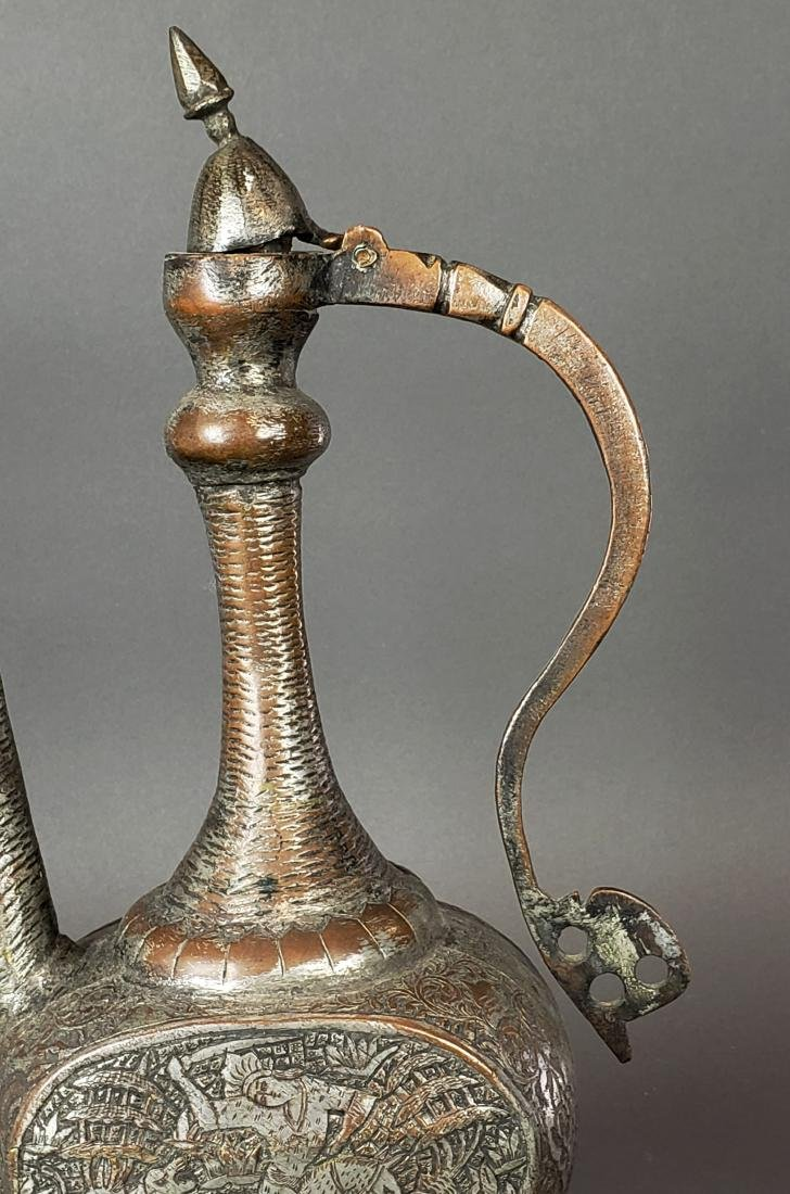 Antique Persian Hand Engraved Teapot - 4