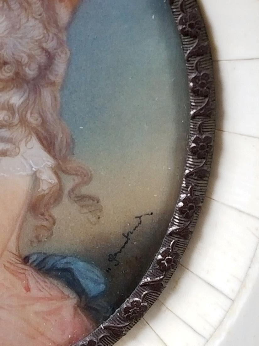 Early 19th C. Pair of Framed Miniature Portraits of - 4