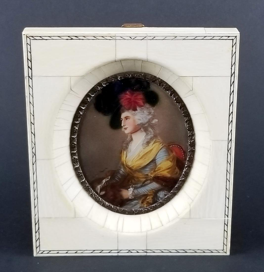 Early 19th C. Pair of Framed Miniature Portraits of - 5