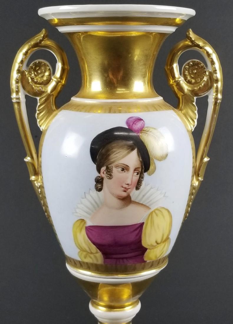 Late 19th C. Old Paris Porcelain Vase - 2