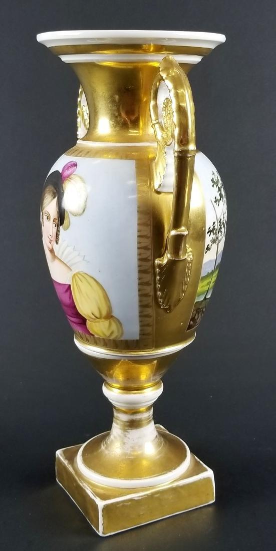 Late 19th C. Old Paris Porcelain Vase - 3