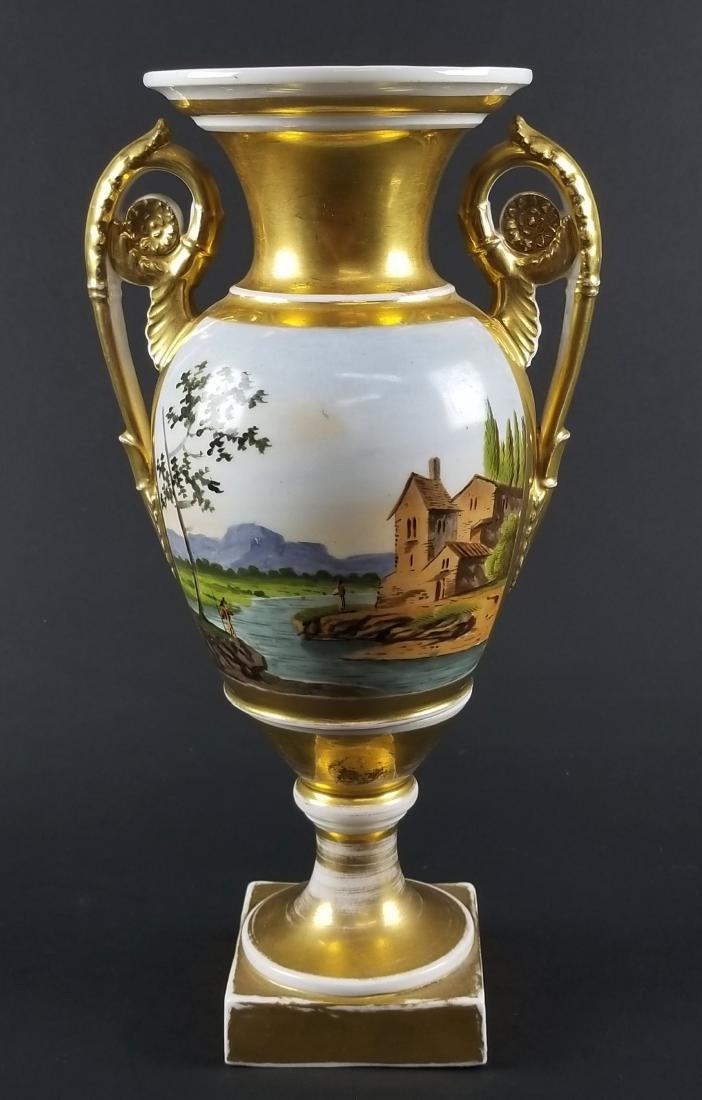 Late 19th C. Old Paris Porcelain Vase - 4