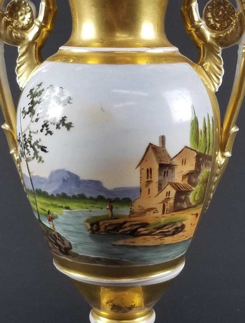 Late 19th C. Old Paris Porcelain Vase - 5