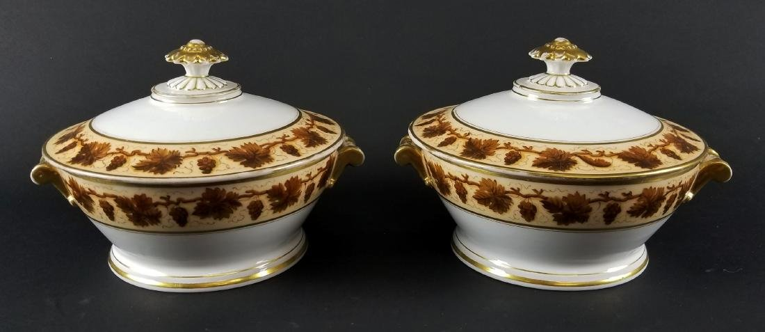 Pair of Early 19th C. Pair of Emprie Old Paris Covered