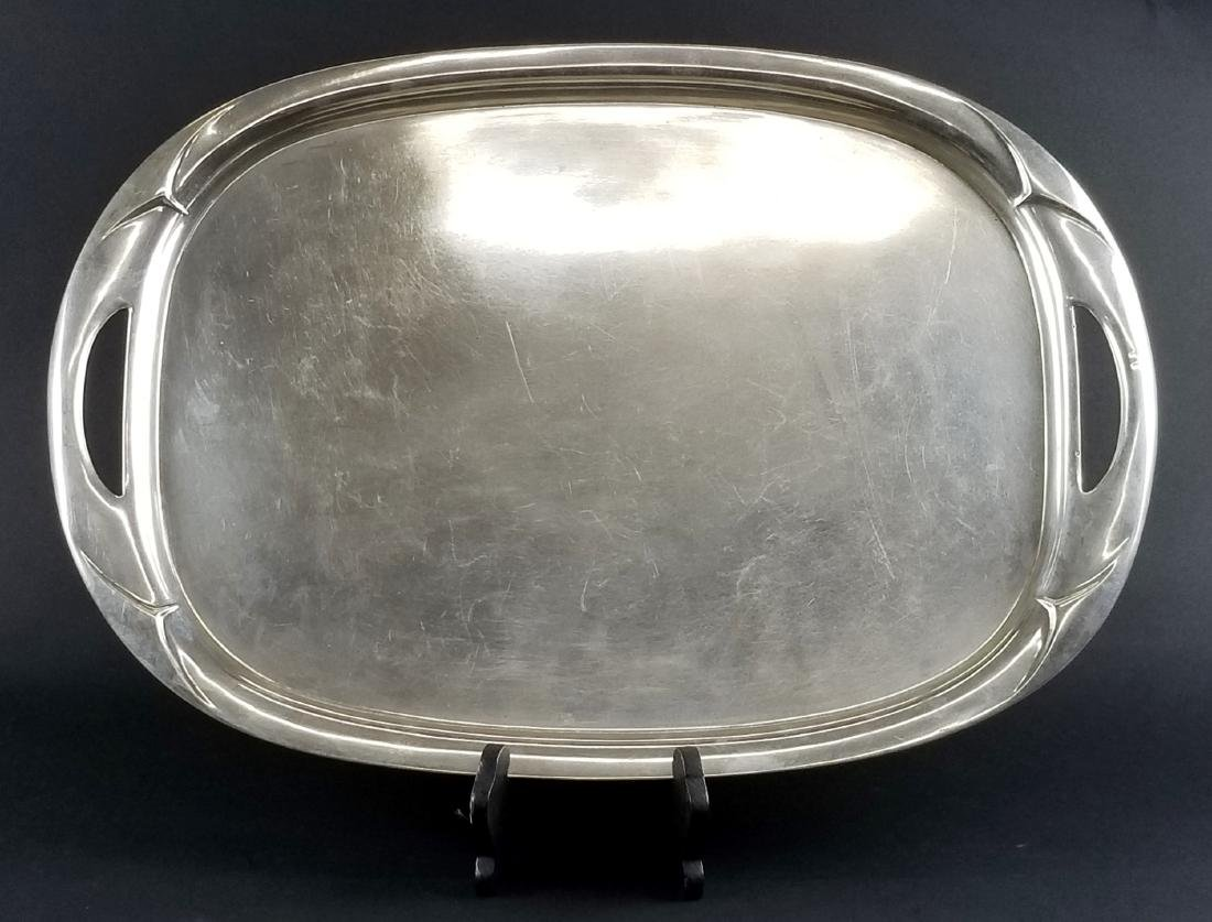 English Handled Silver Tray