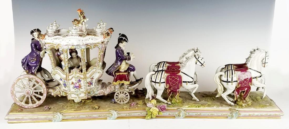 19th C. German Porcelain Carriage