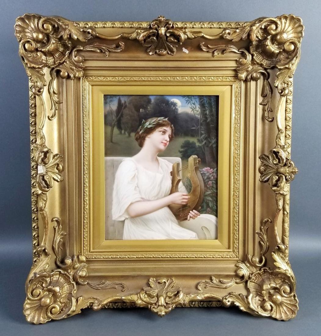 Late 19th C. Exquisite KPM Porcelain plaque of Woman