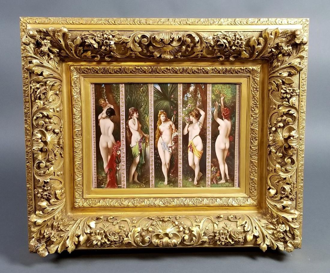 """A Magnificent Royal Vienna """"Five Senses"""" Porcelain"""