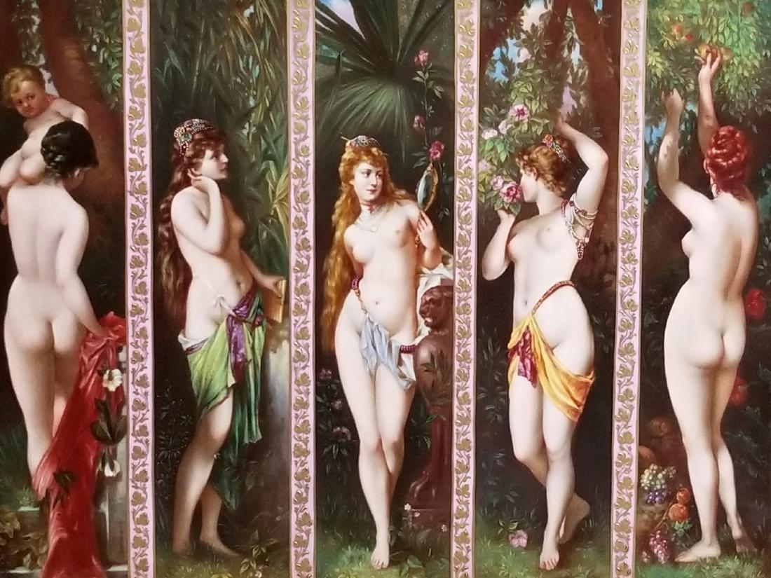 """A Magnificent Royal Vienna """"Five Senses"""" Porcelain - 2"""