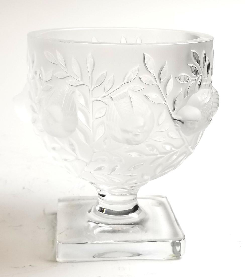 Lalique Glass Bird Vase