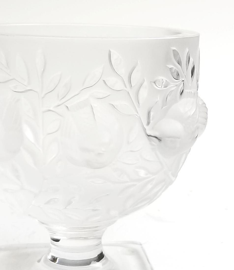 Lalique Glass Bird Vase - 3