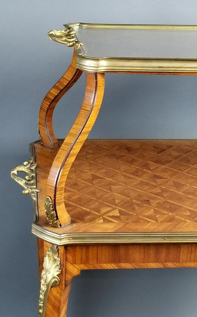 19th C. French Louis XVI Style 2 Tier Serving Table - 2