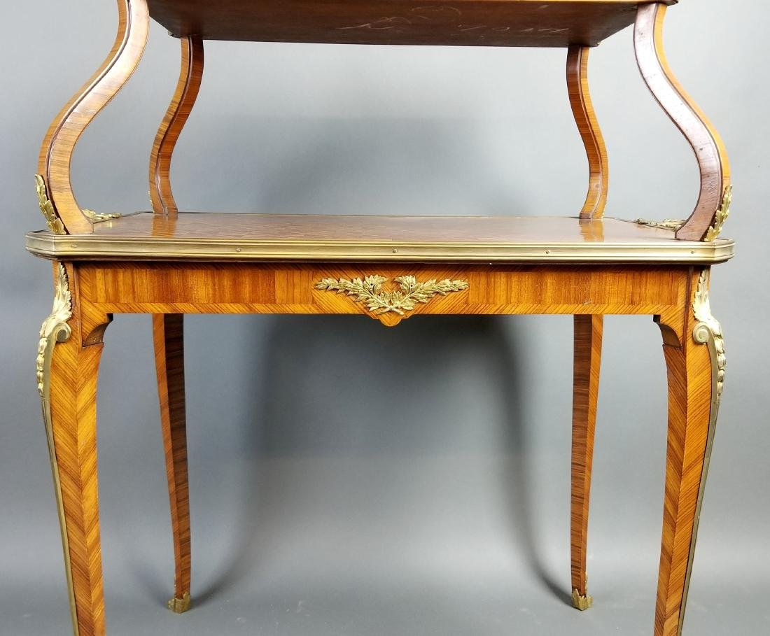 19th C. French Louis XVI Style 2 Tier Serving Table - 4