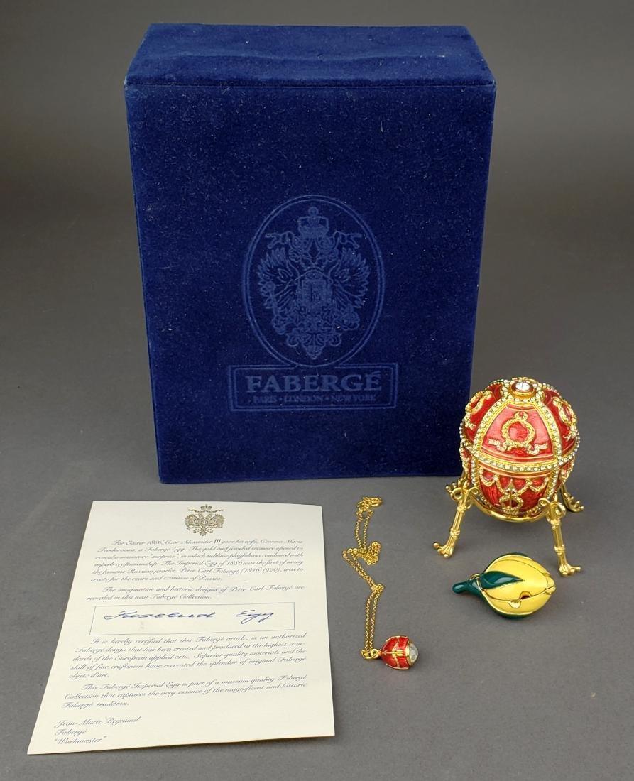Faberge Egg Imperial Rosebud Surprise Neckace Jewelry