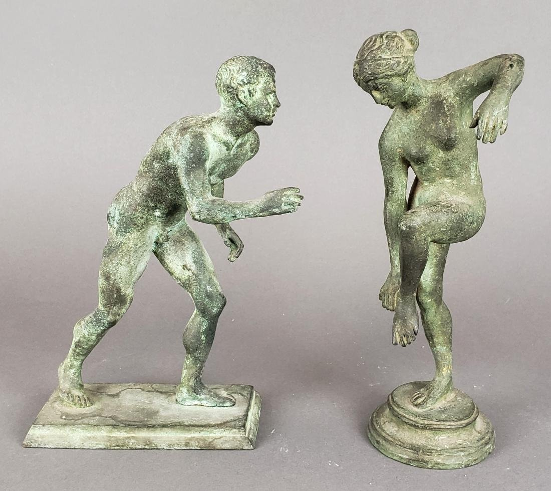 Pair of French Olympics Stone Figures