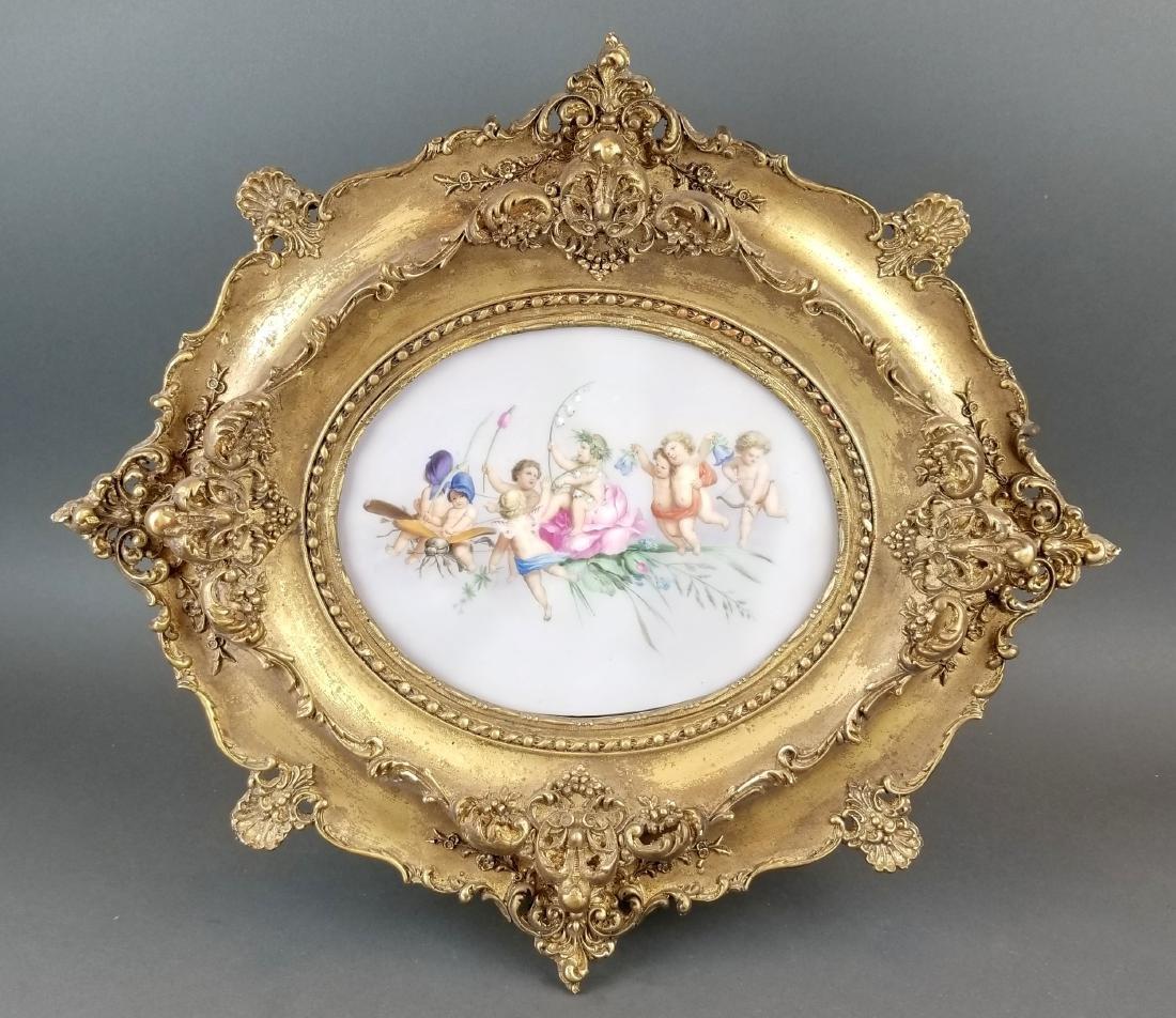 19th C. Framed Porcelain Plaque