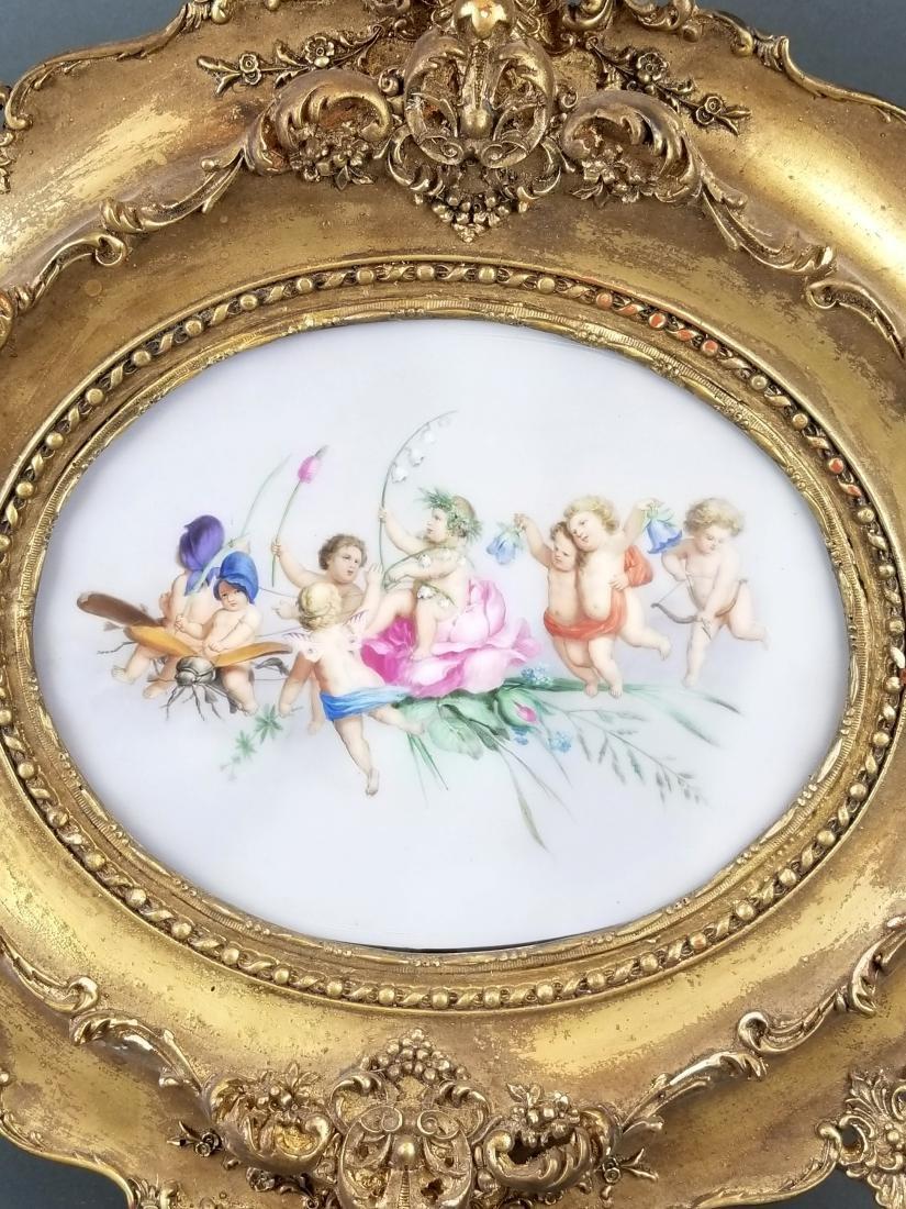 19th C. Framed Porcelain Plaque - 2