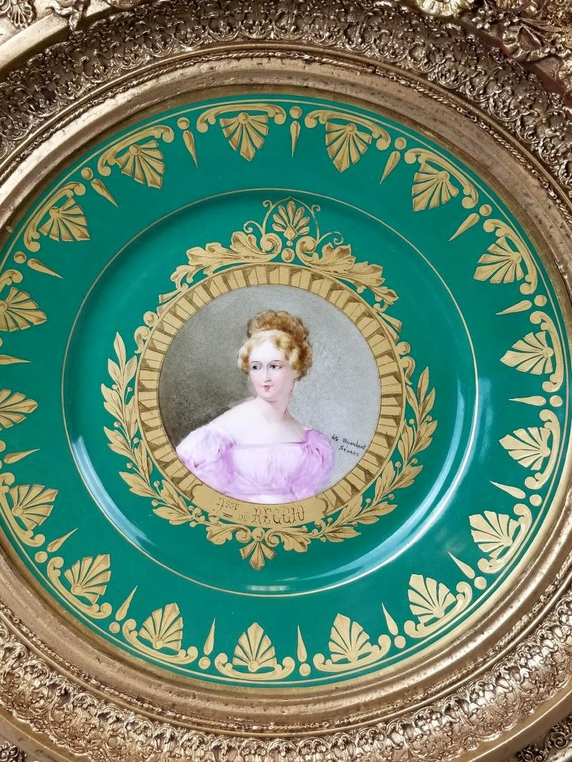 Pair of 19th C. Sevres Framed Hand Painted Plates - 2