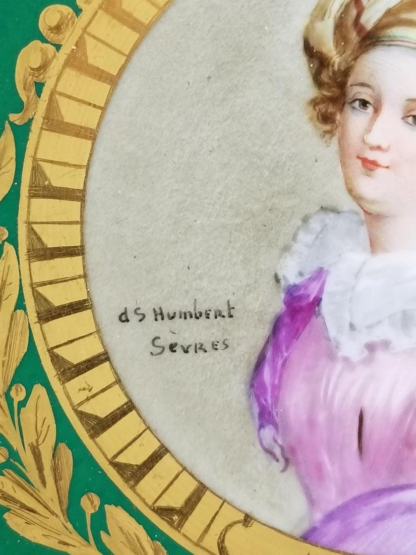 Pair of 19th C. Sevres Framed Hand Painted Plates - 4