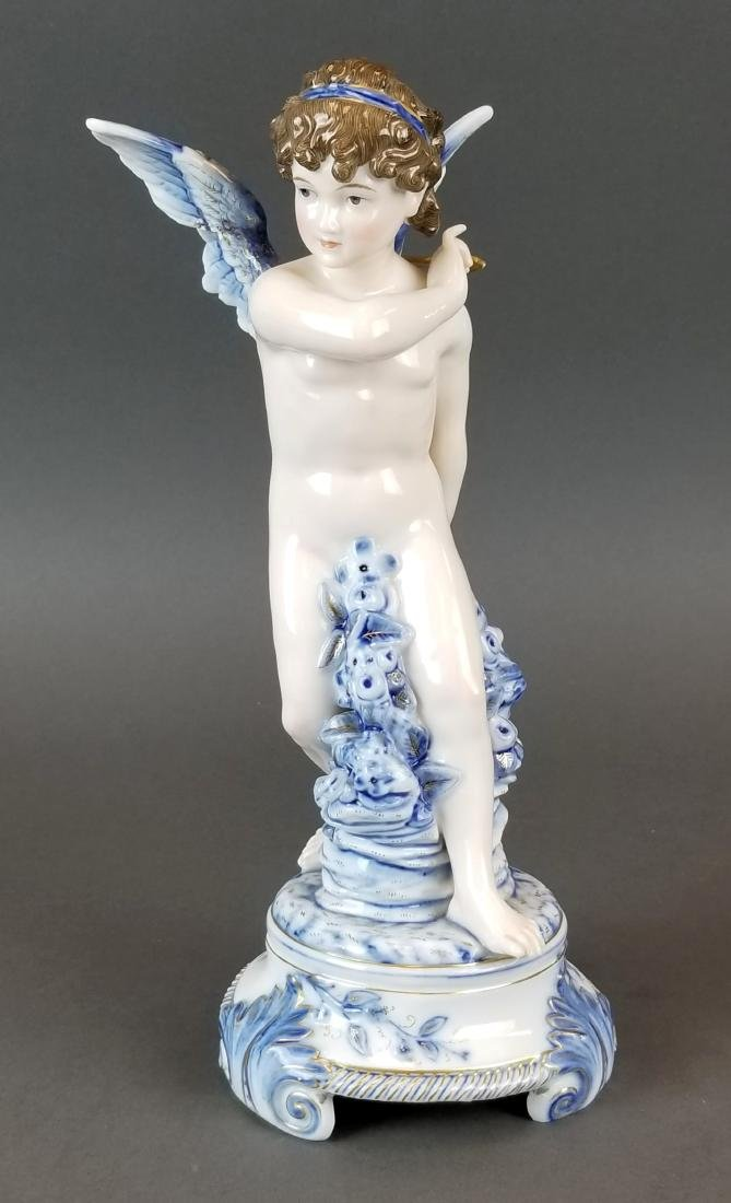 Royal Vienna Austrian Porcelain Large Figure of Angel