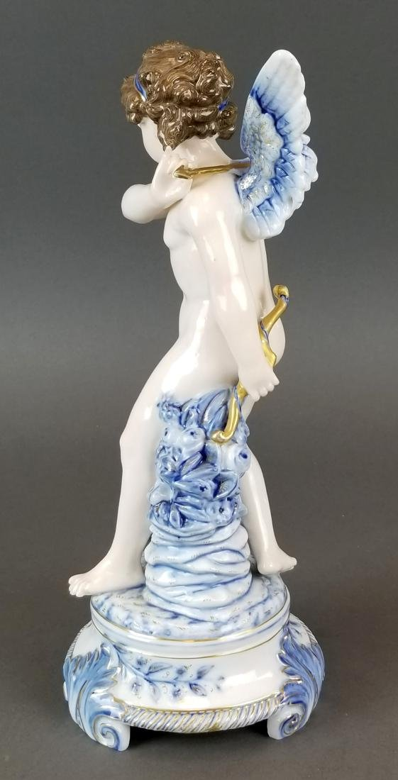 Royal Vienna Austrian Porcelain Large Figure of Angel - 4