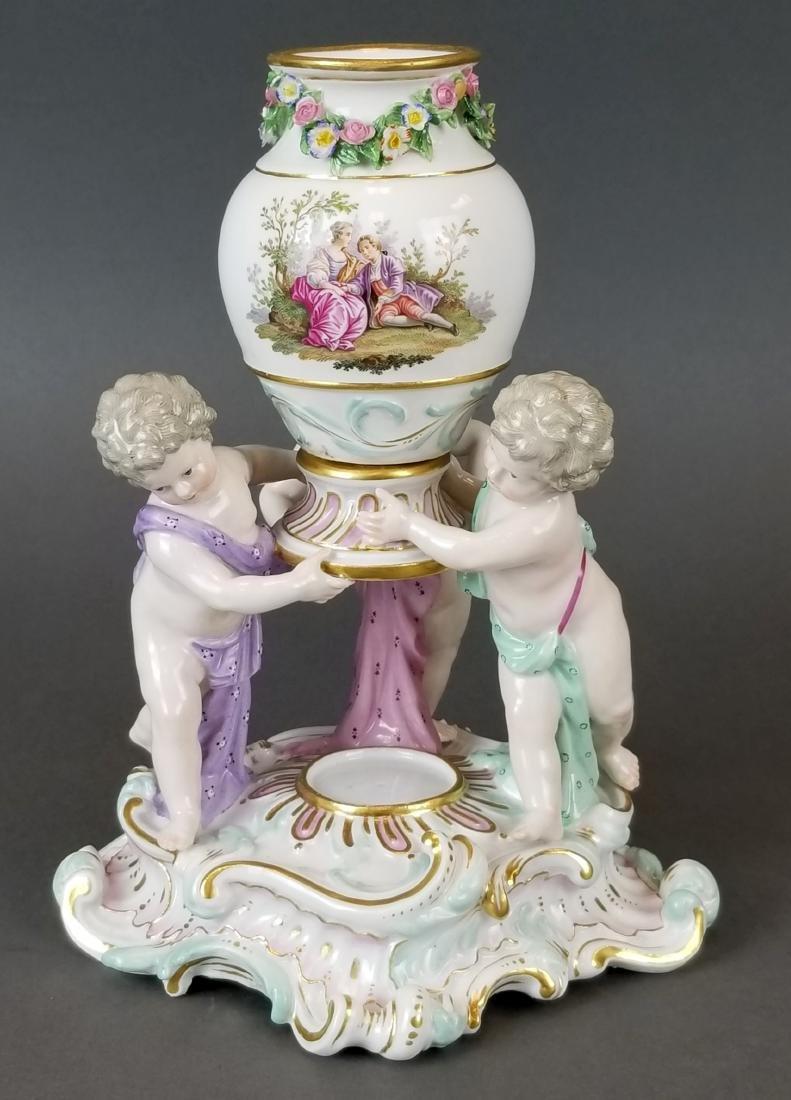 Pair of 19th C. Meissen Figural Vases - 4