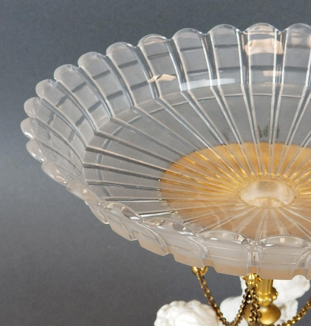 19th C. French Bisque & Crystal Centerpiece - 5
