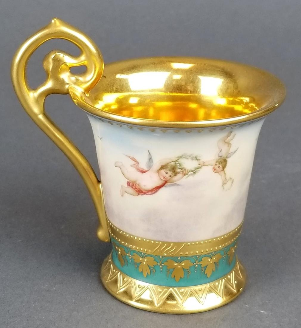 19th C. Royal Vienna Cup & Saucer Handpainted - 5