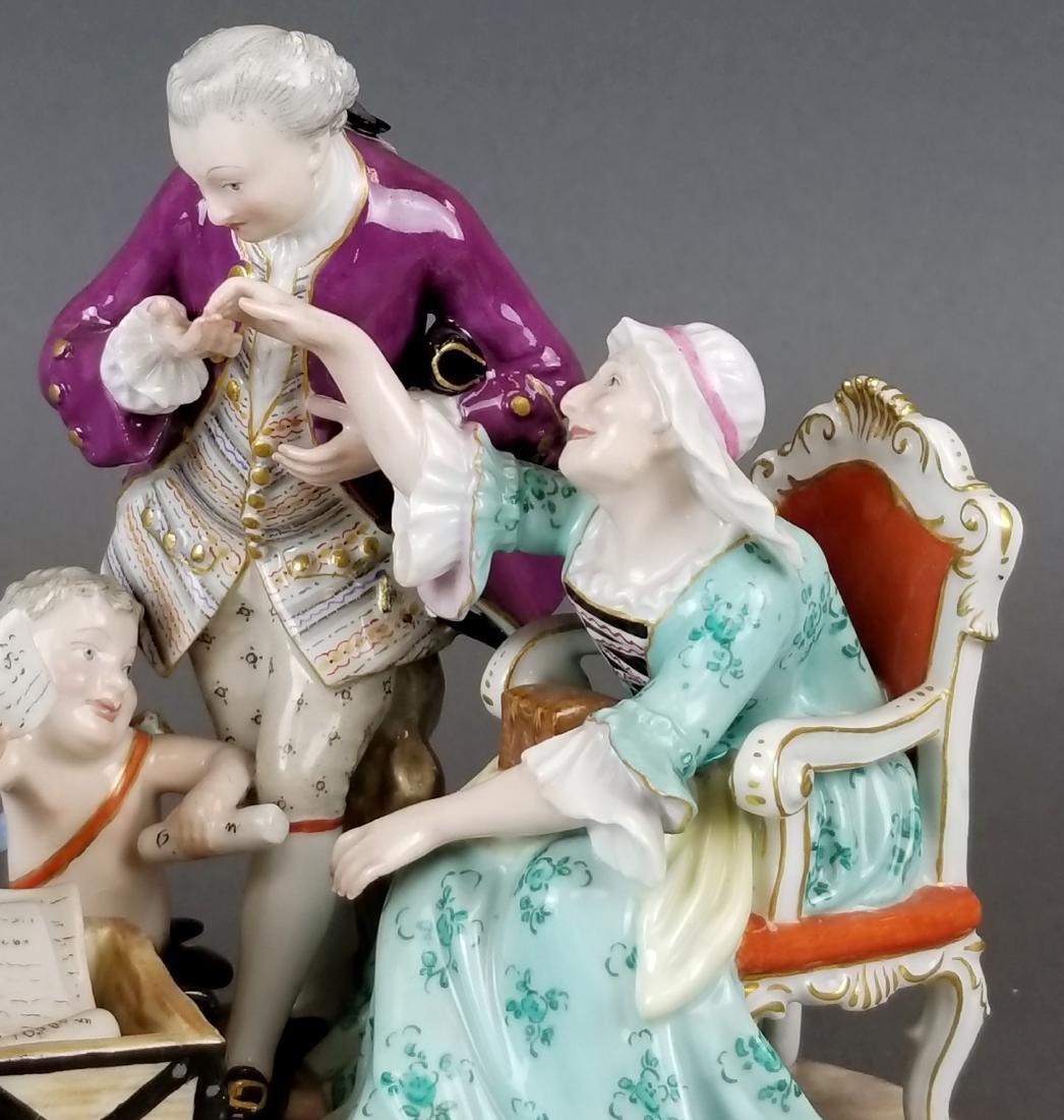 19th C. Meissen Porcelain Group of Elderly Couple - 2