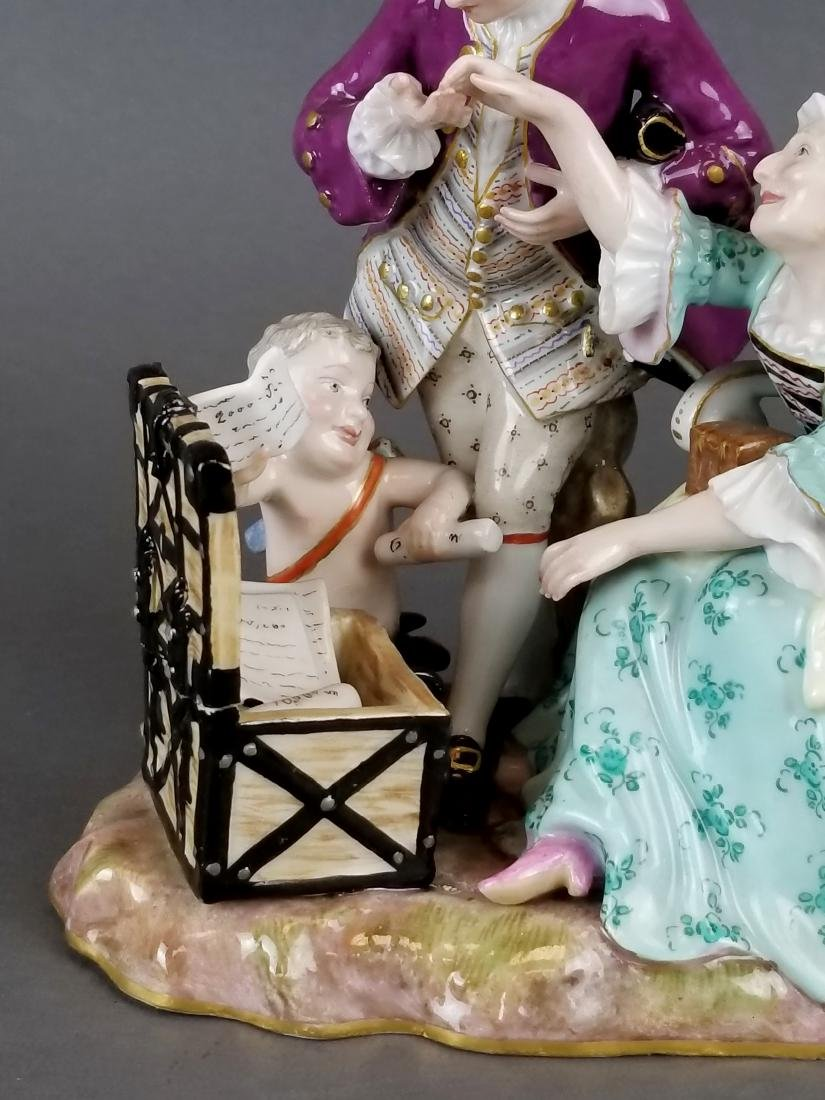 19th C. Meissen Porcelain Group of Elderly Couple - 3