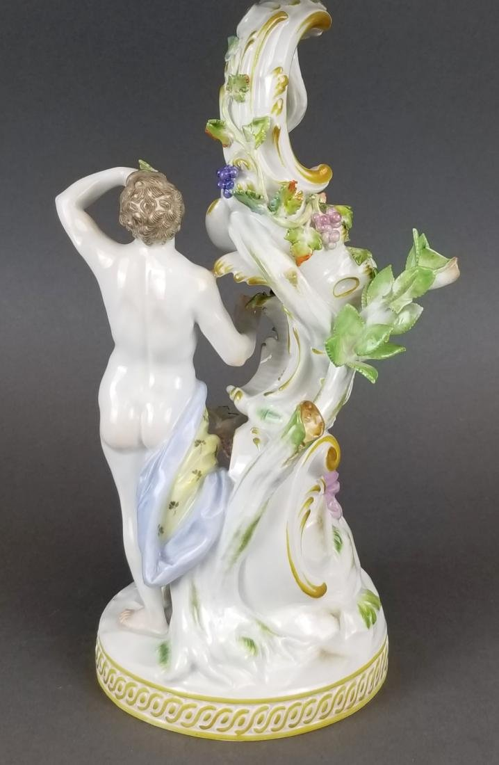 19th C. Meissen Porcelain Figural & Reticulated Cake - 4