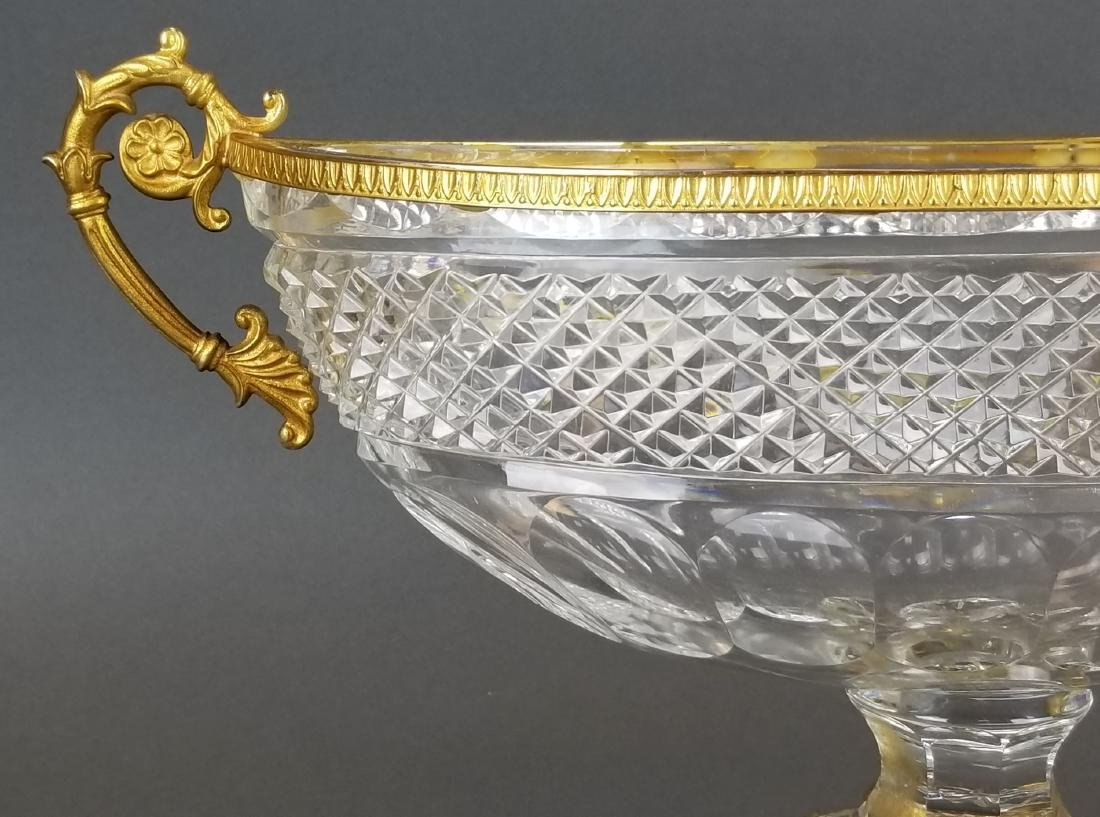 19th C. Baccarat Crystal & Bronze Centerpiece - 2