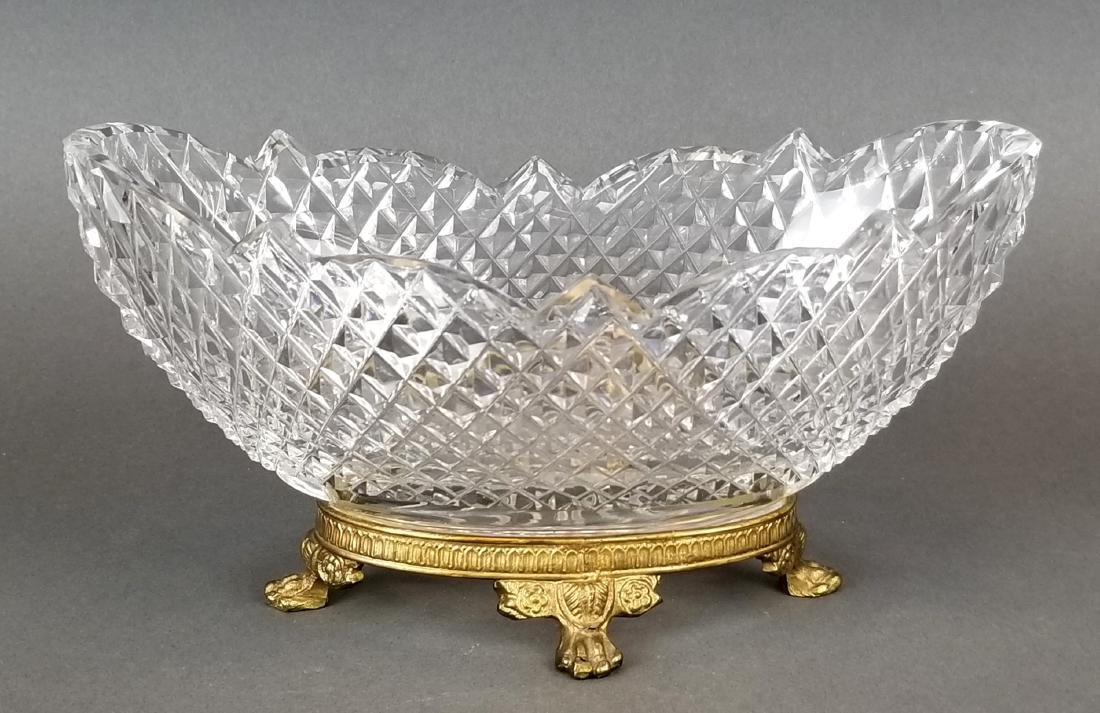 Pair of 19th C. Baccarat Crystal & Bronze Bowls - 2