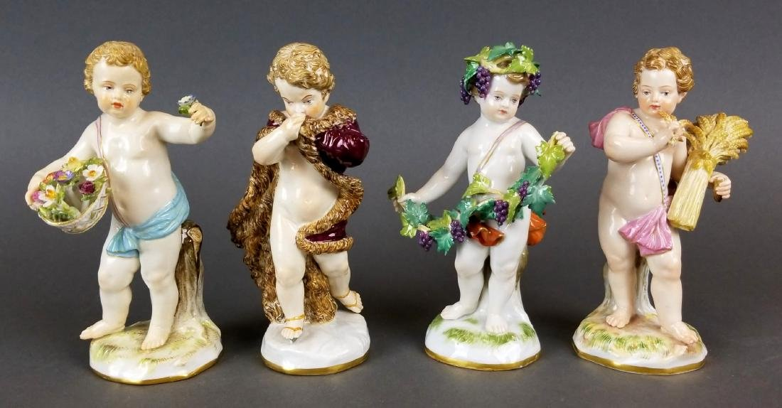"Set of 19th C. Meissen Porcelain ""4 Seasons"" Figures"