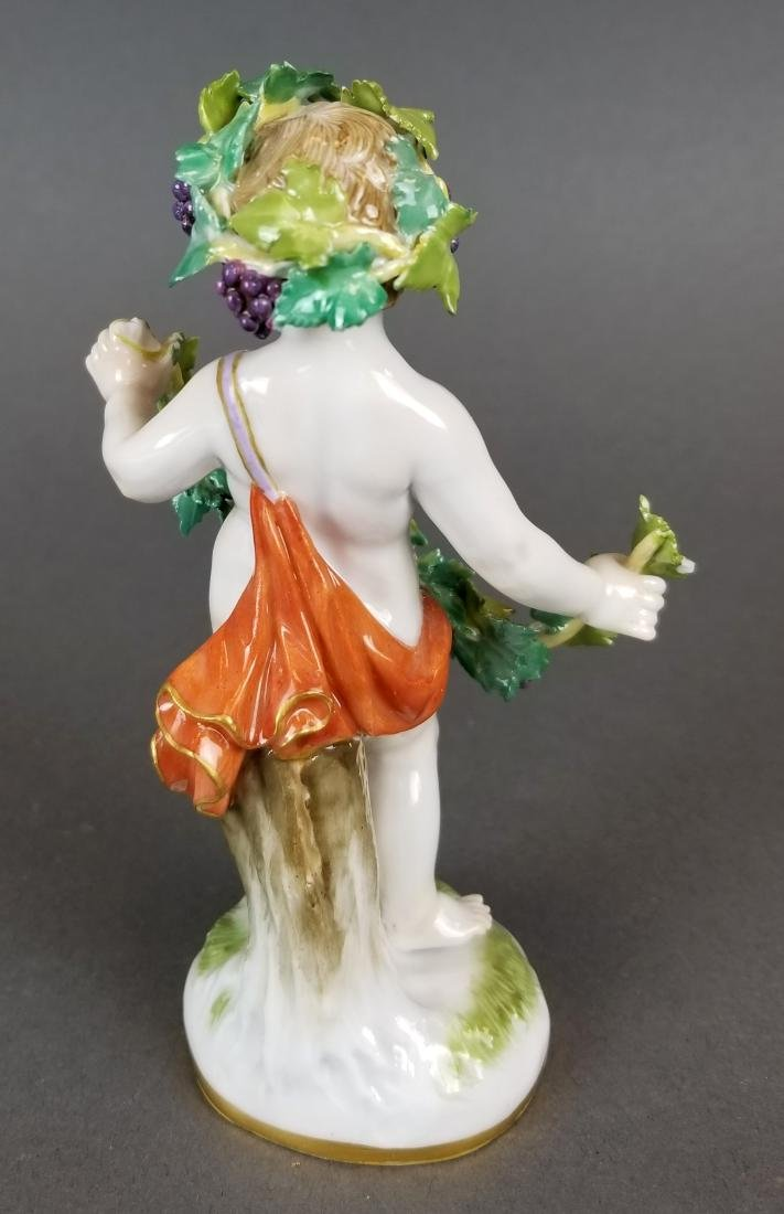 "Set of 19th C. Meissen Porcelain ""4 Seasons"" Figures - 5"
