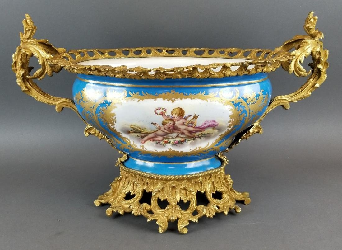 19th C. Large Sevres French Centerpiece