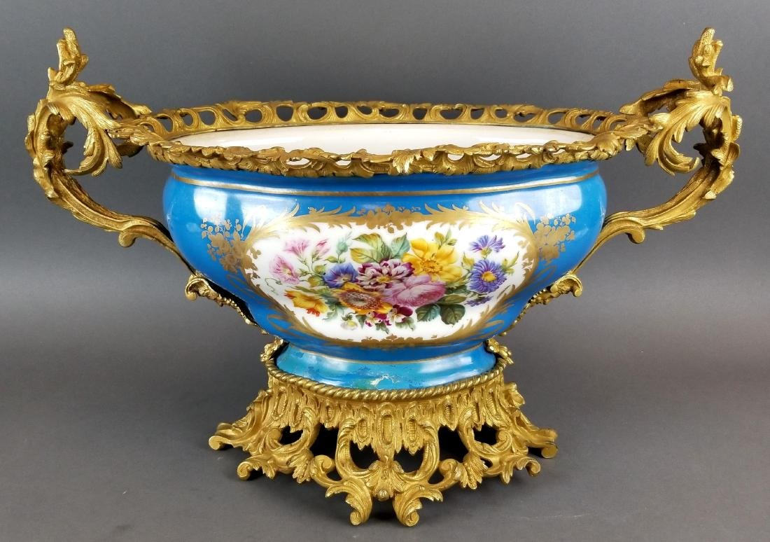 19th C. Large Sevres French Centerpiece - 4
