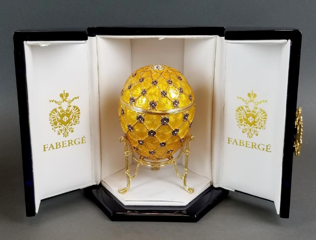 Faberge Authentic Enamel Carriage Egg