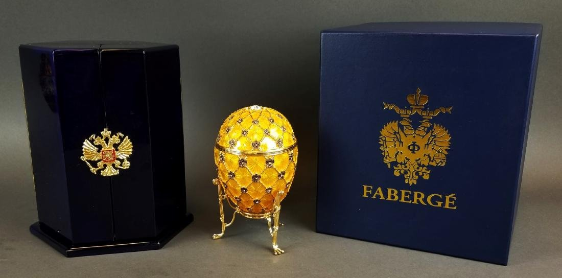 Faberge Authentic Enamel Carriage Egg - 2