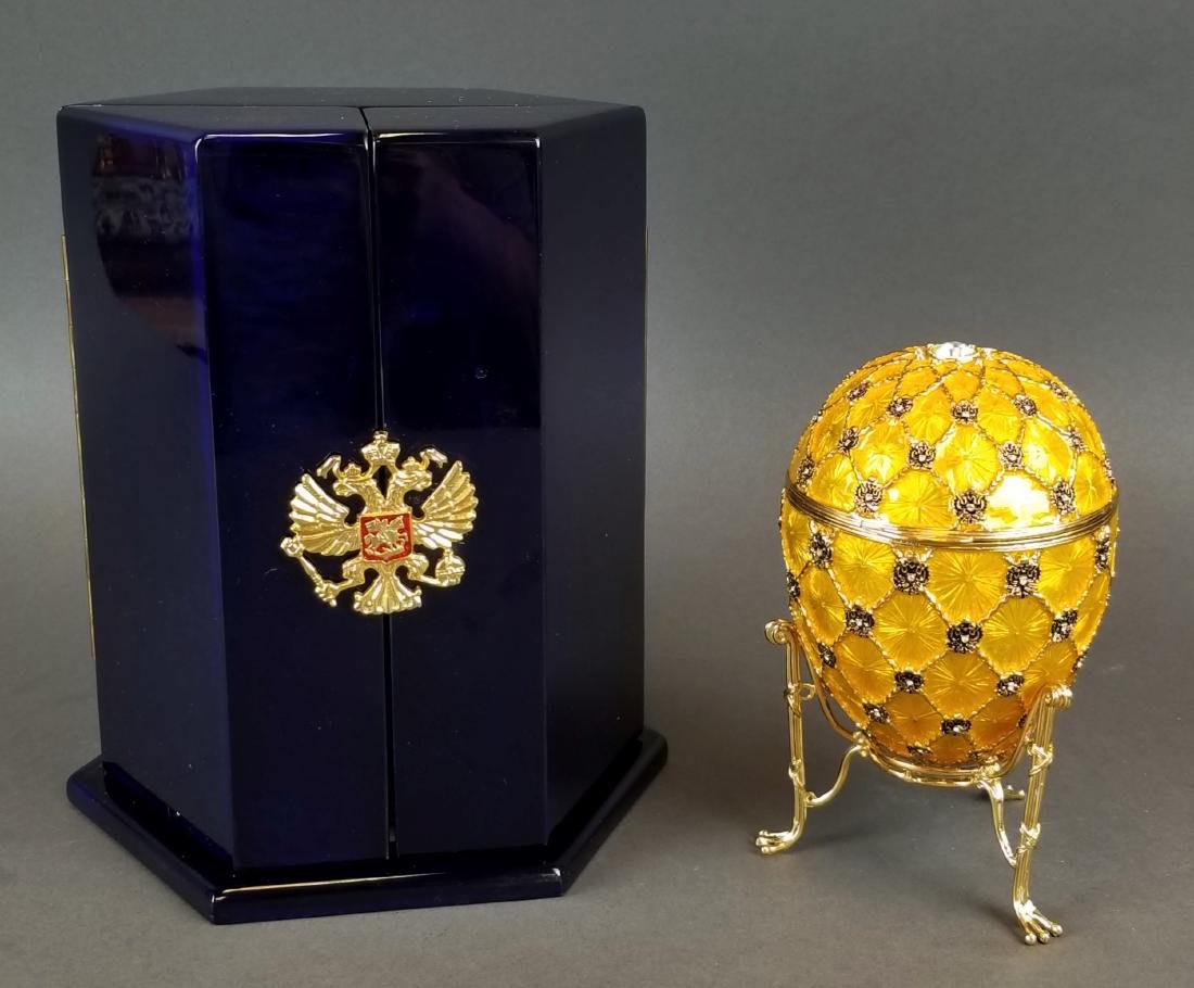 Faberge Authentic Enamel Carriage Egg - 3
