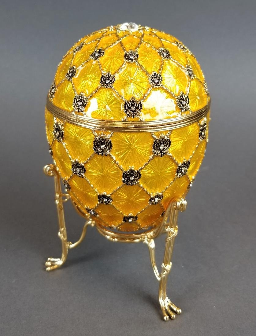 Faberge Authentic Enamel Carriage Egg - 4