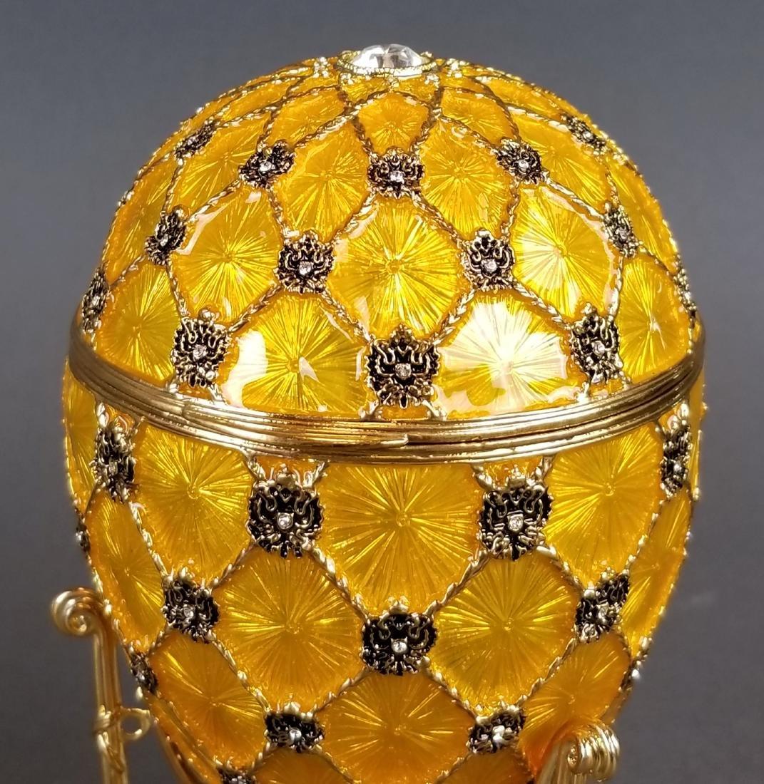 Faberge Authentic Enamel Carriage Egg - 5