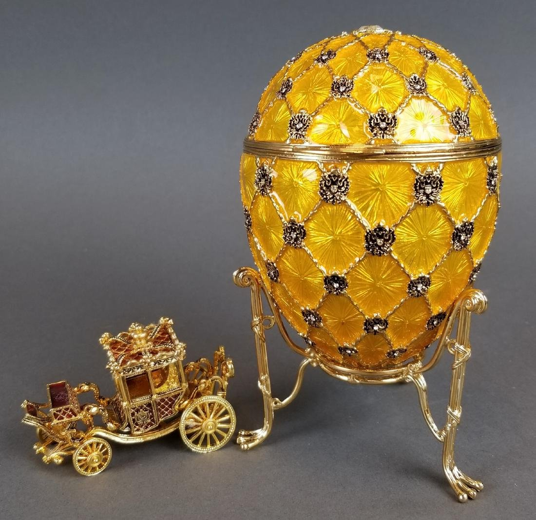 Faberge Authentic Enamel Carriage Egg - 7