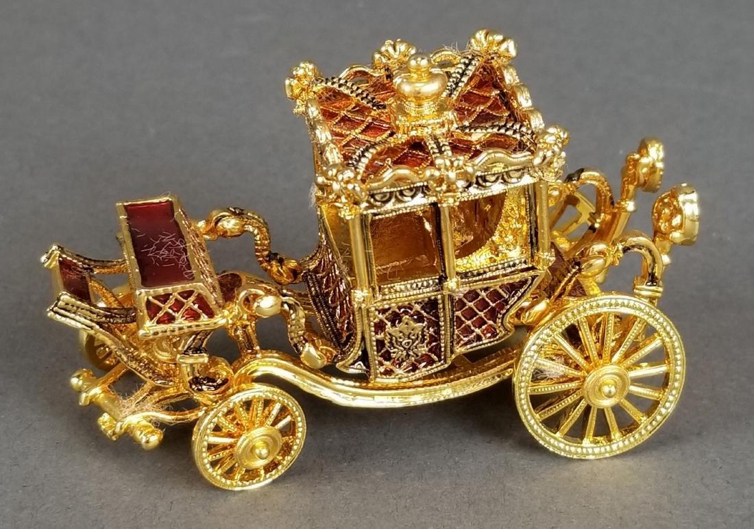 Faberge Authentic Enamel Carriage Egg - 8